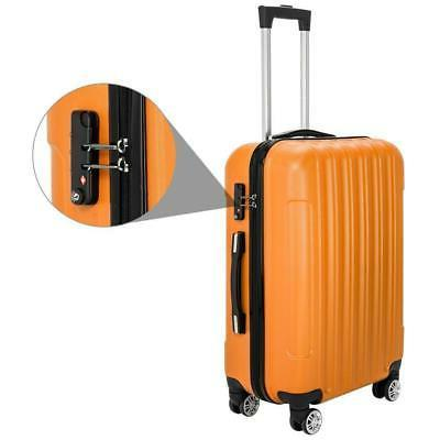 3PCS Luggage Travel Bag ABS Shell Suitcase