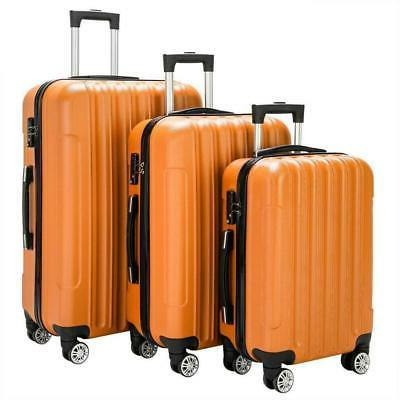 3PCS Luggage Bag ABS Shell Suitcase Wheel