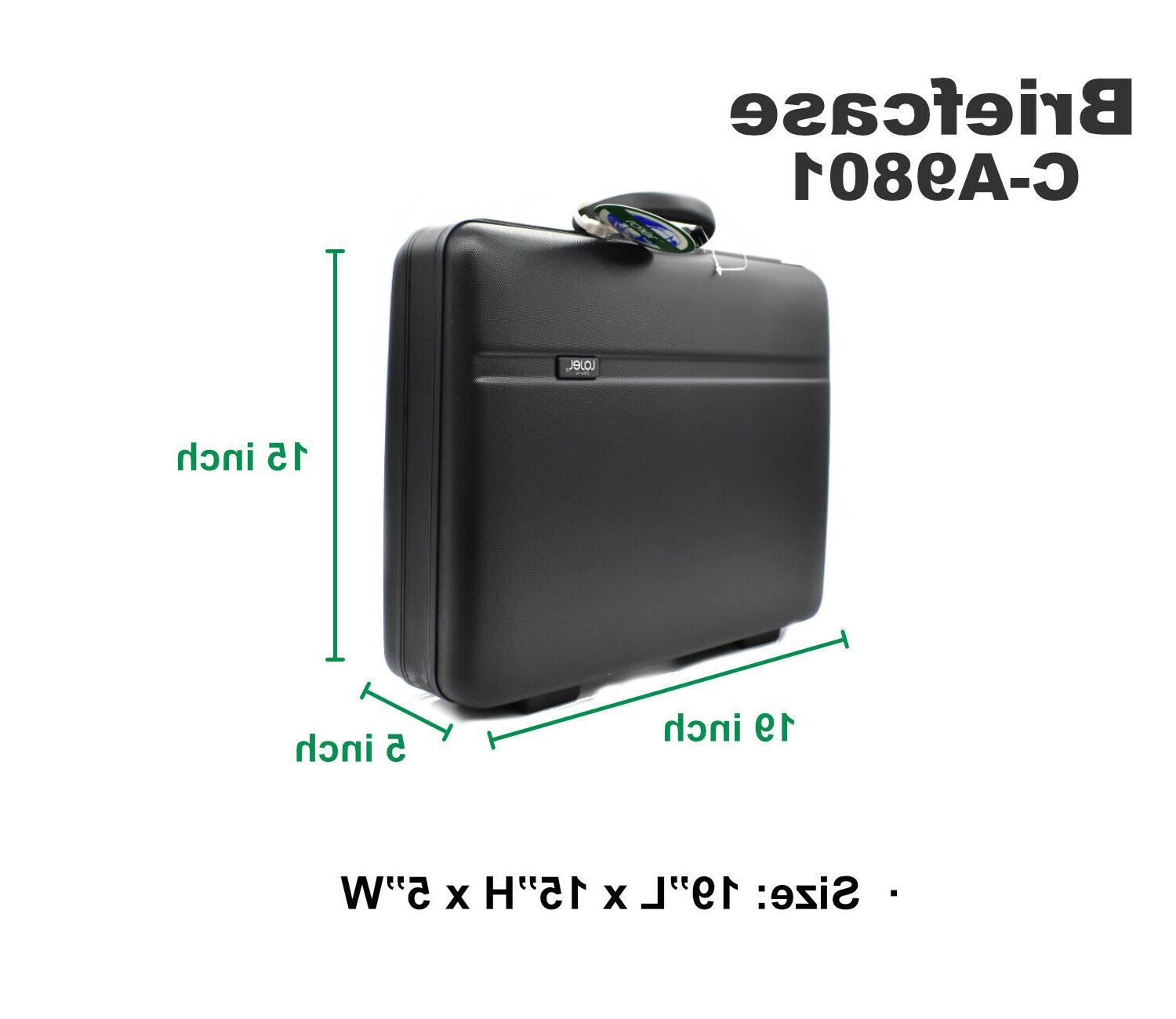 abs thermoplastic briefcase business hard c slide