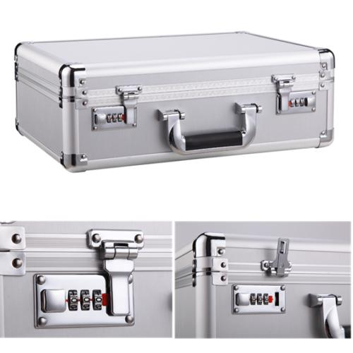Aluminum Hard Capacity Men Briefcase Net Pocket