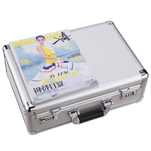 Aluminum Case Capacity Dual Men Briefcase Pocket