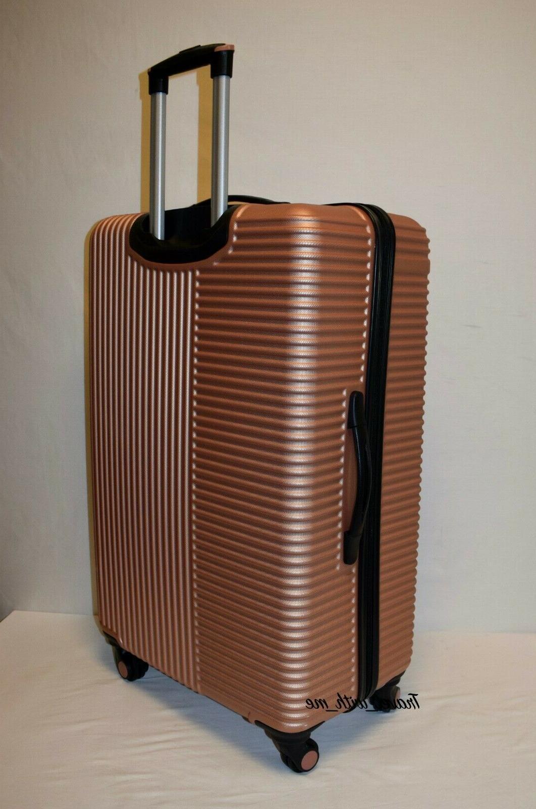Travelers Basette Rose Gold Sided Suitcase