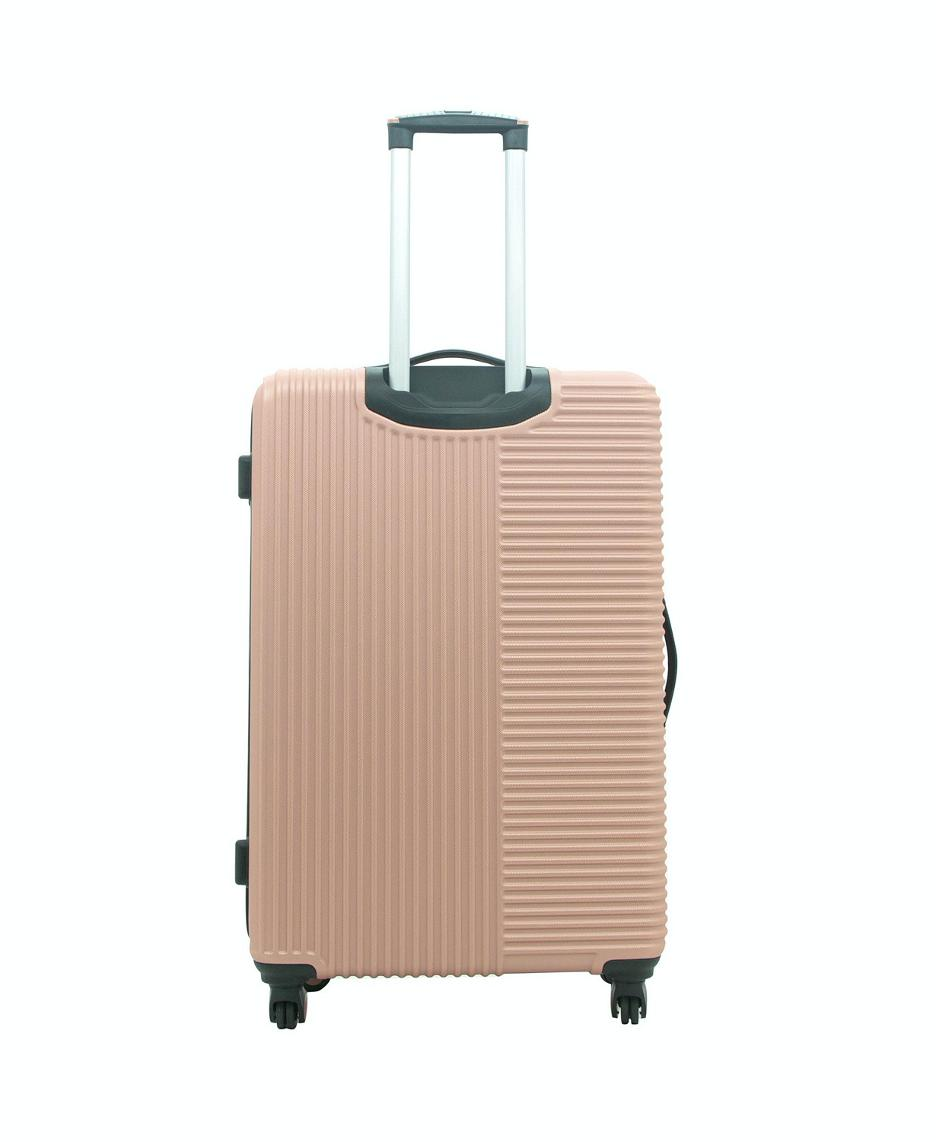 Travelers Club Rose Gold 28 Sided Spinner Suitcase