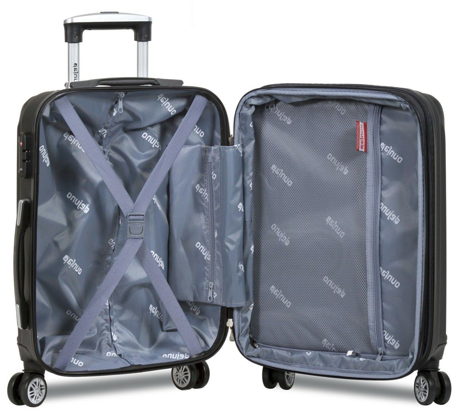 Black Case 3PC Rolling Luggage