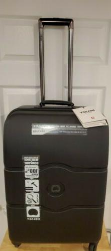 "DELSEY Paris Chatelet Hard 24"" Spinner Suitcase, BLACK - loc"