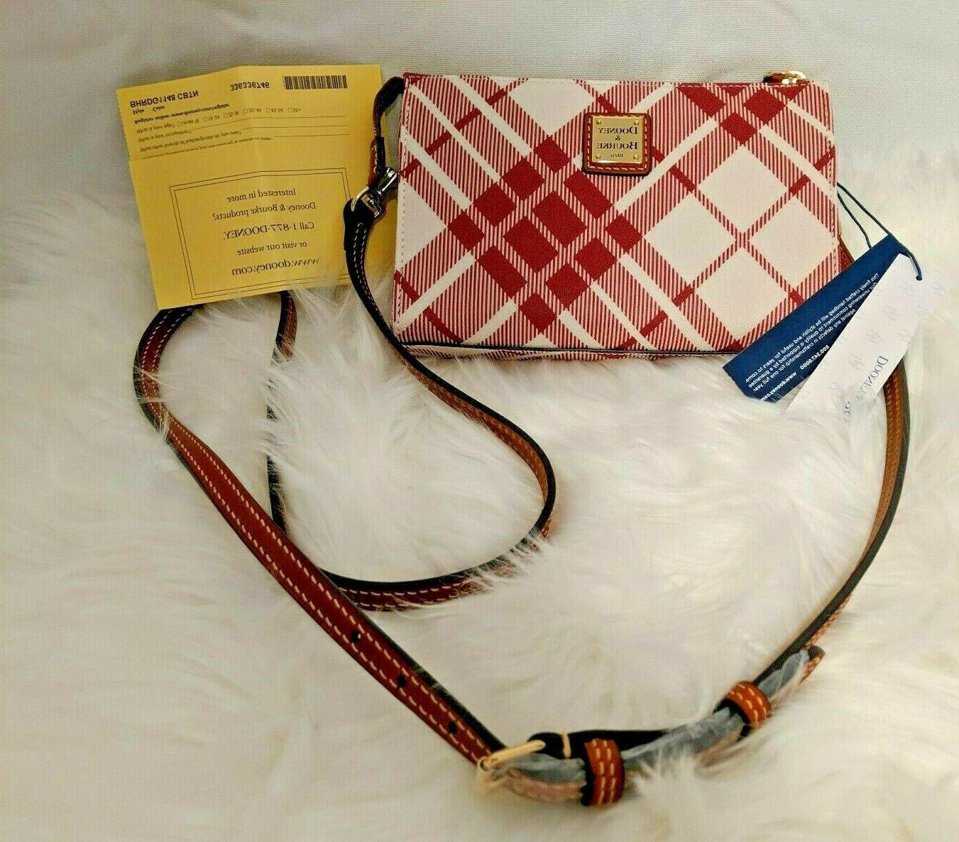 dooney and bourke harding janine cranberry plaid