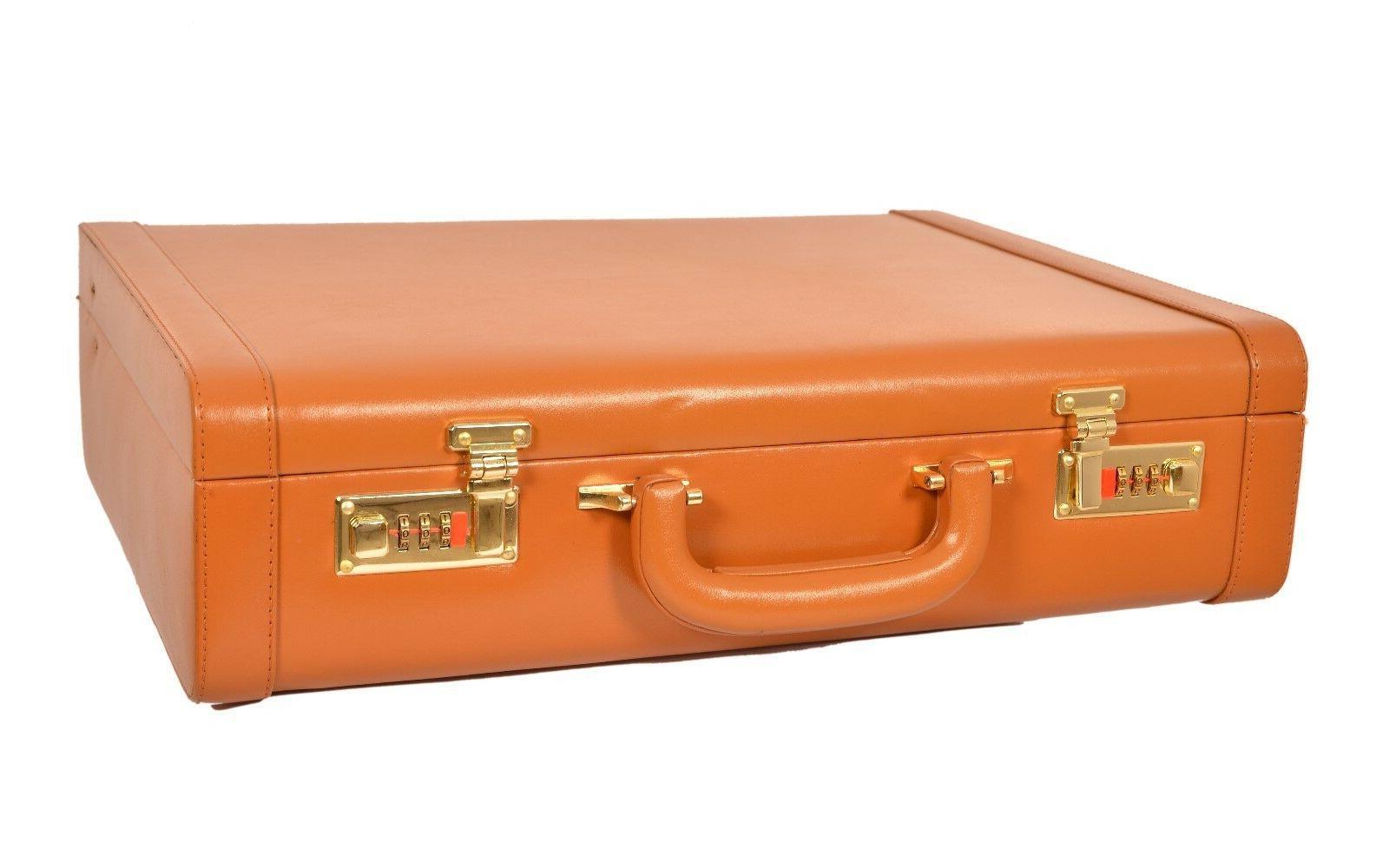 genuine leather men s hard briefcase attache