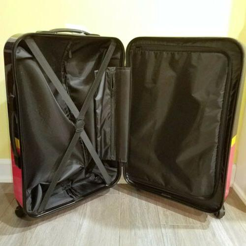Mouse Rolling Hard Shell Suitcase Luggage NWT NEW