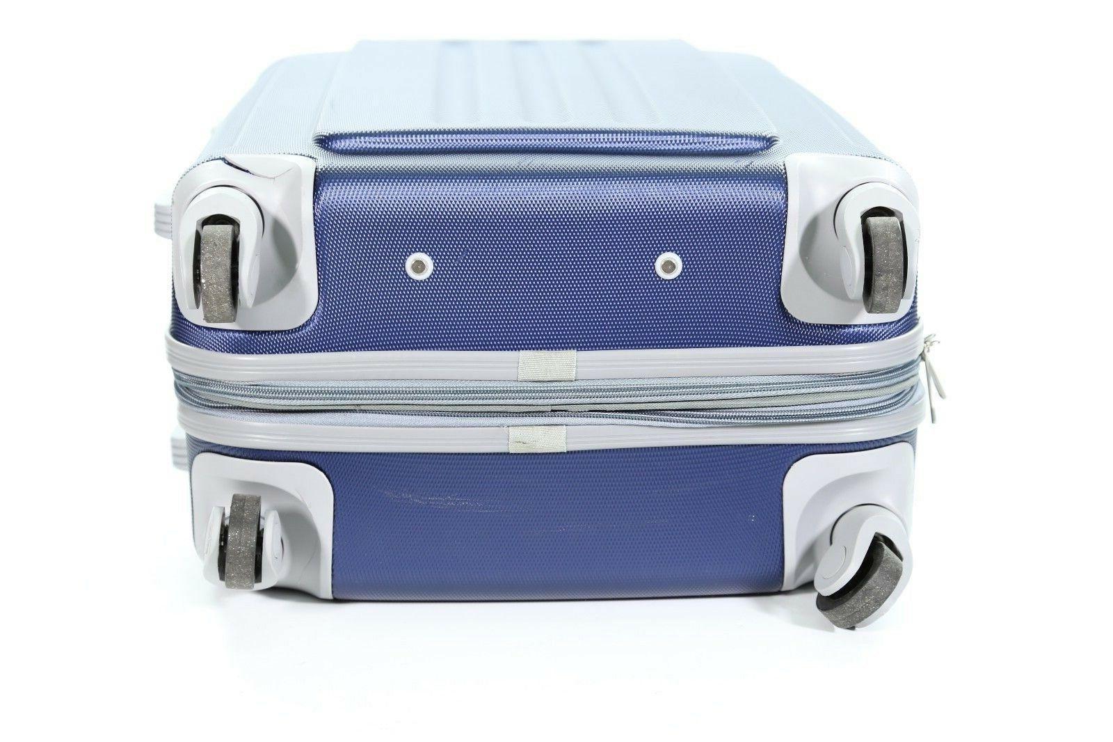 "Dejuno Hard Rolling Navy/Grey 20"" Suitcase"
