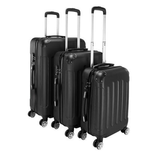 Hard Suitcase 4 Case Lightweight 3PC Case