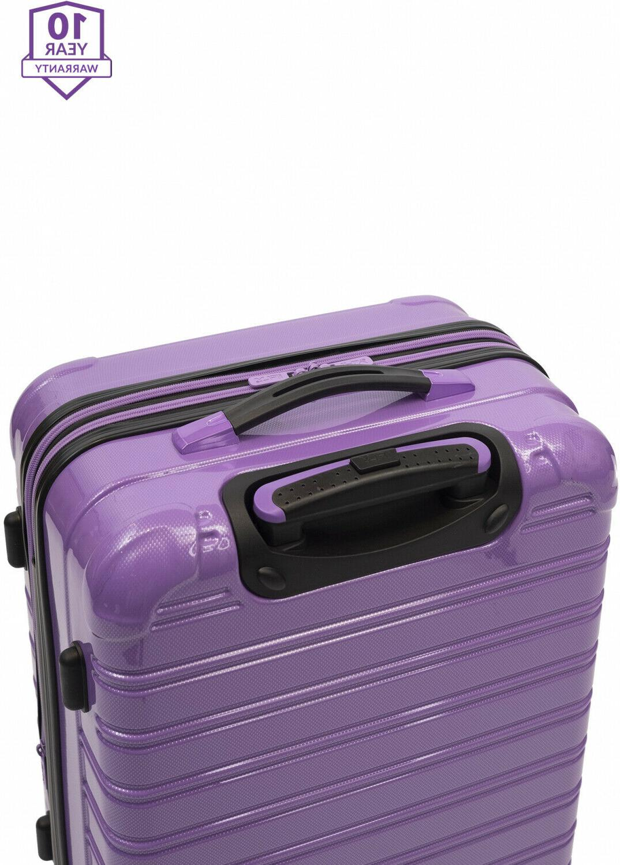 Hardside Spinner Suitcase Rolling Luggage 24-Inch Travel Hard Side Wheels