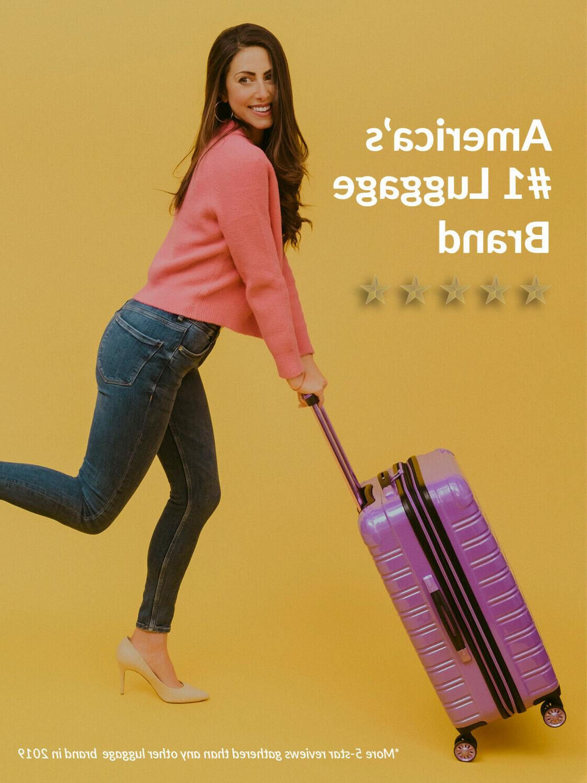 Hardside Spinner Suitcase Luggage 24-Inch Hard Wheels