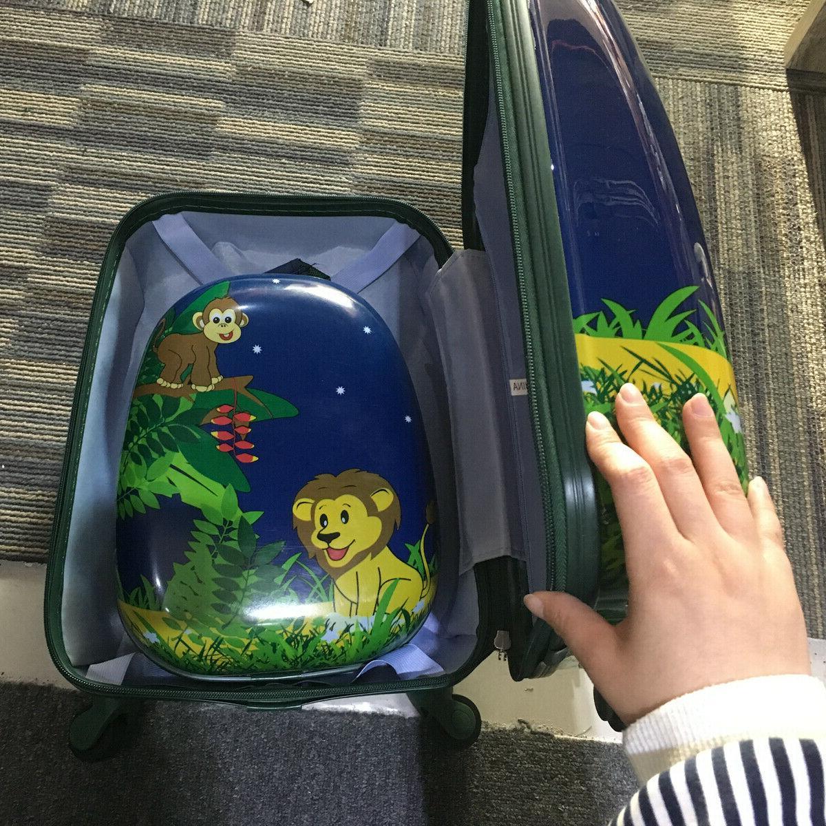 2 Travel Trolley School Set