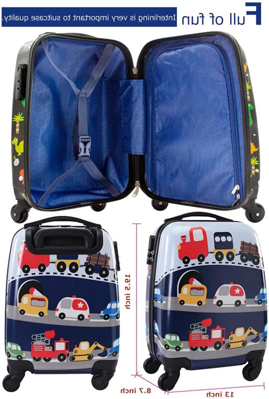 Lttxin Kids Luggage with Wheels Hard Shell Carry On