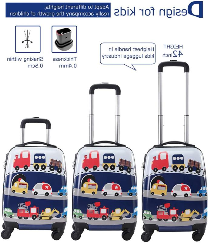 Lttxin Kids Rolling with Carry Suitcase 18 inch for