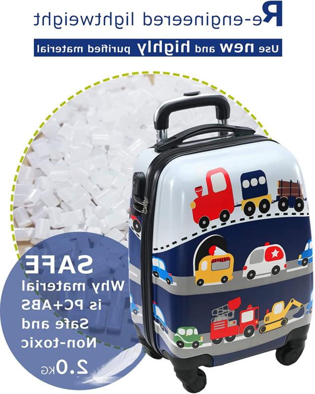 Lttxin Kids Luggage with Carry Suitcase inch