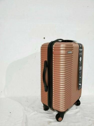 "Travelers 20"" Gold Luggage Suitcase Spinner Carry On"