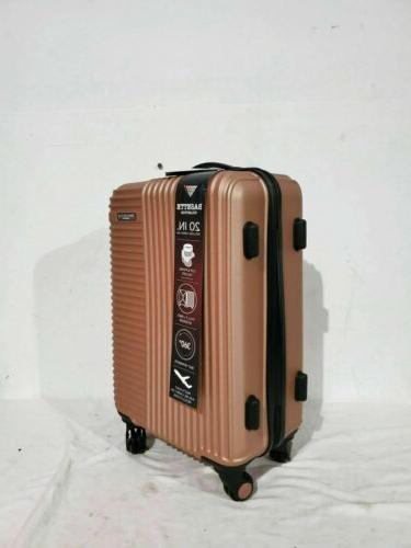 "Travelers Club Luggage 20"" Rose Suitcase"