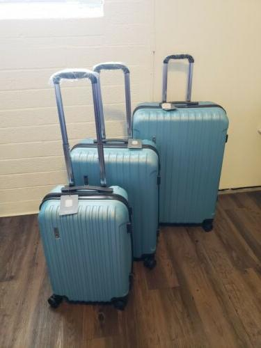 luggage set 3piece suitcases abs trolly spinner