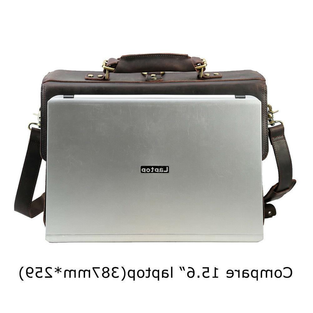 Men Laptop Briefcase Shoulder Handbag Daypack Satchel