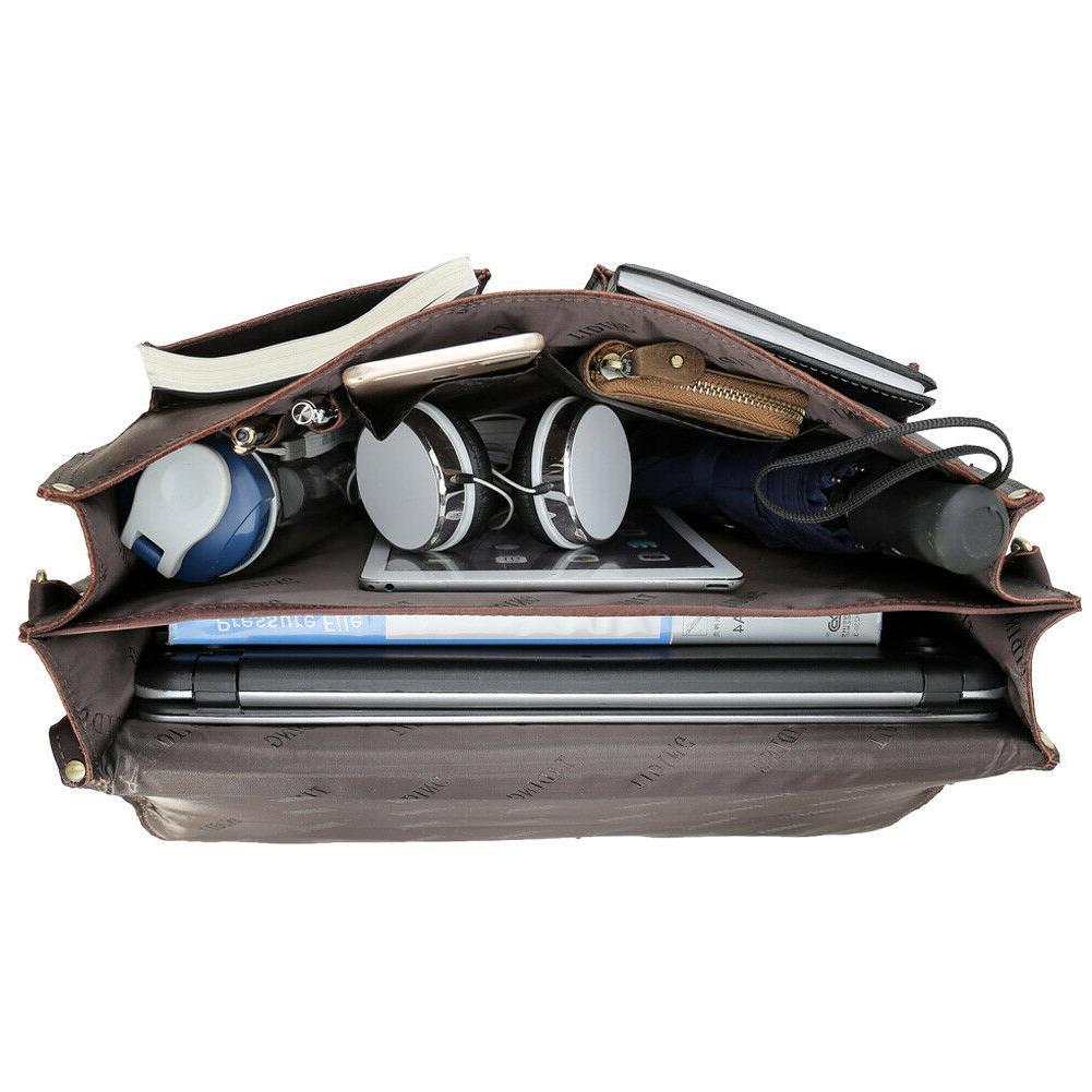 Men Leather Laptop Briefcase