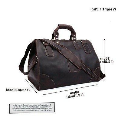 Men's Large Leather Bag Messenger Case