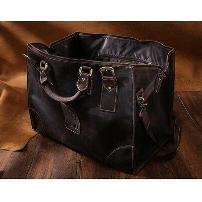 Men's Large Leather Bag Duffle Messenger