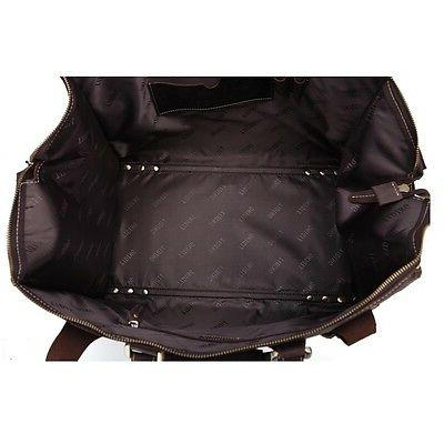 Men's Leather Travel Bag Luggage Messenger Suitcases