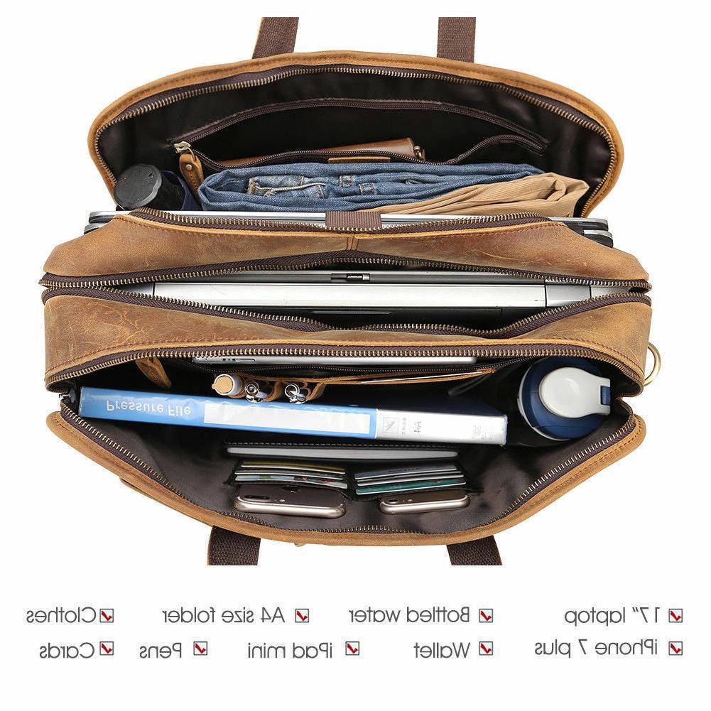 Men Vintage Messenger Bag Laptop Briefcase Tote