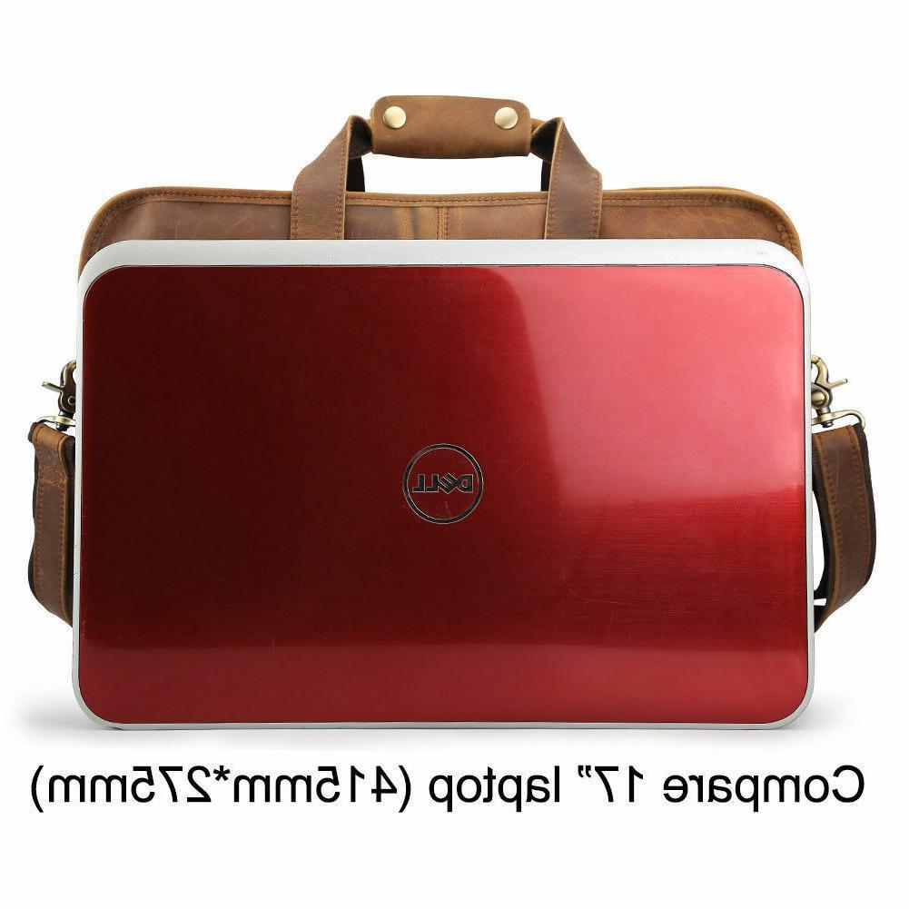 Men Vintage Messenger Laptop Briefcase Tote Satchel