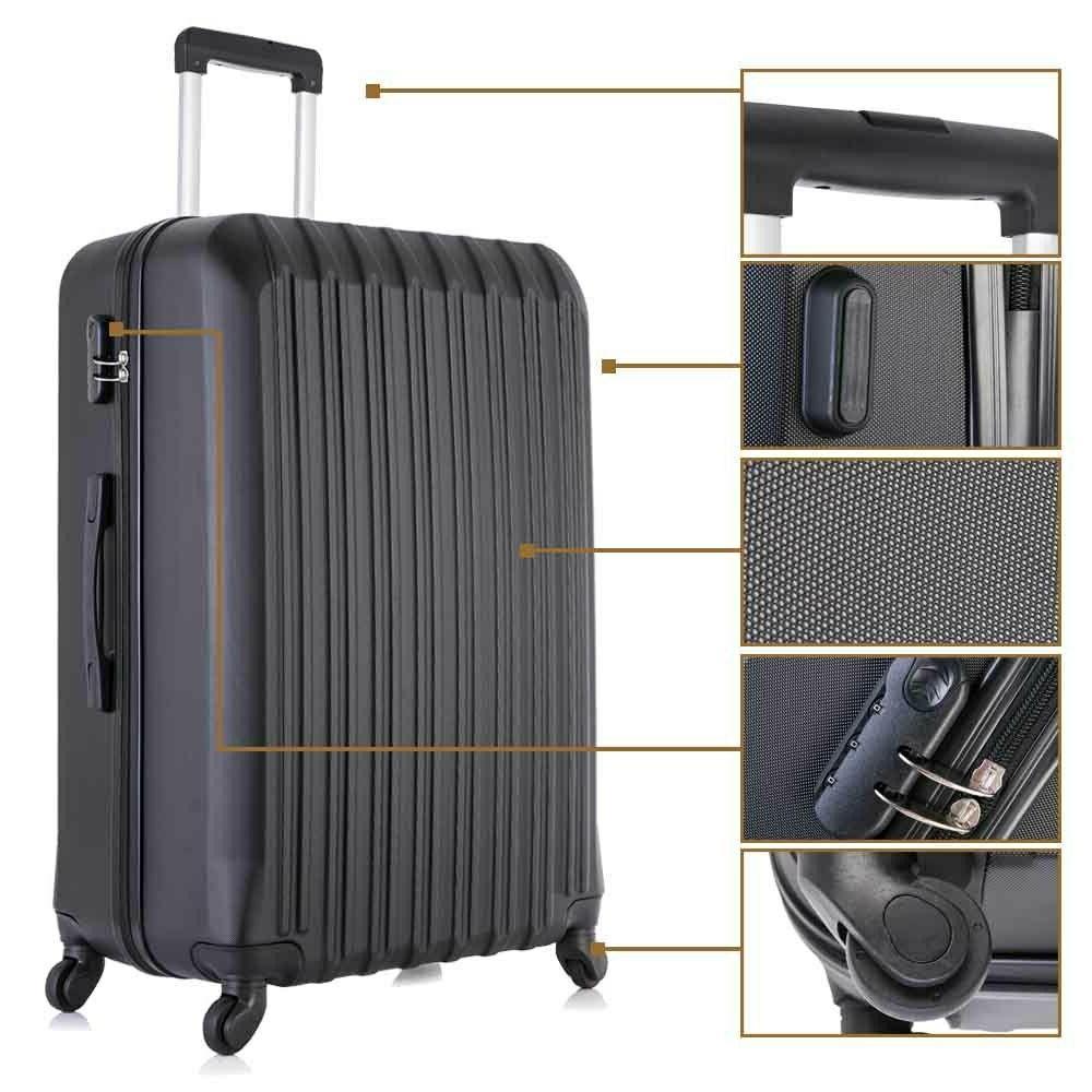 "16"" 20"" 24"" Luggage Set ABS Lightweight"