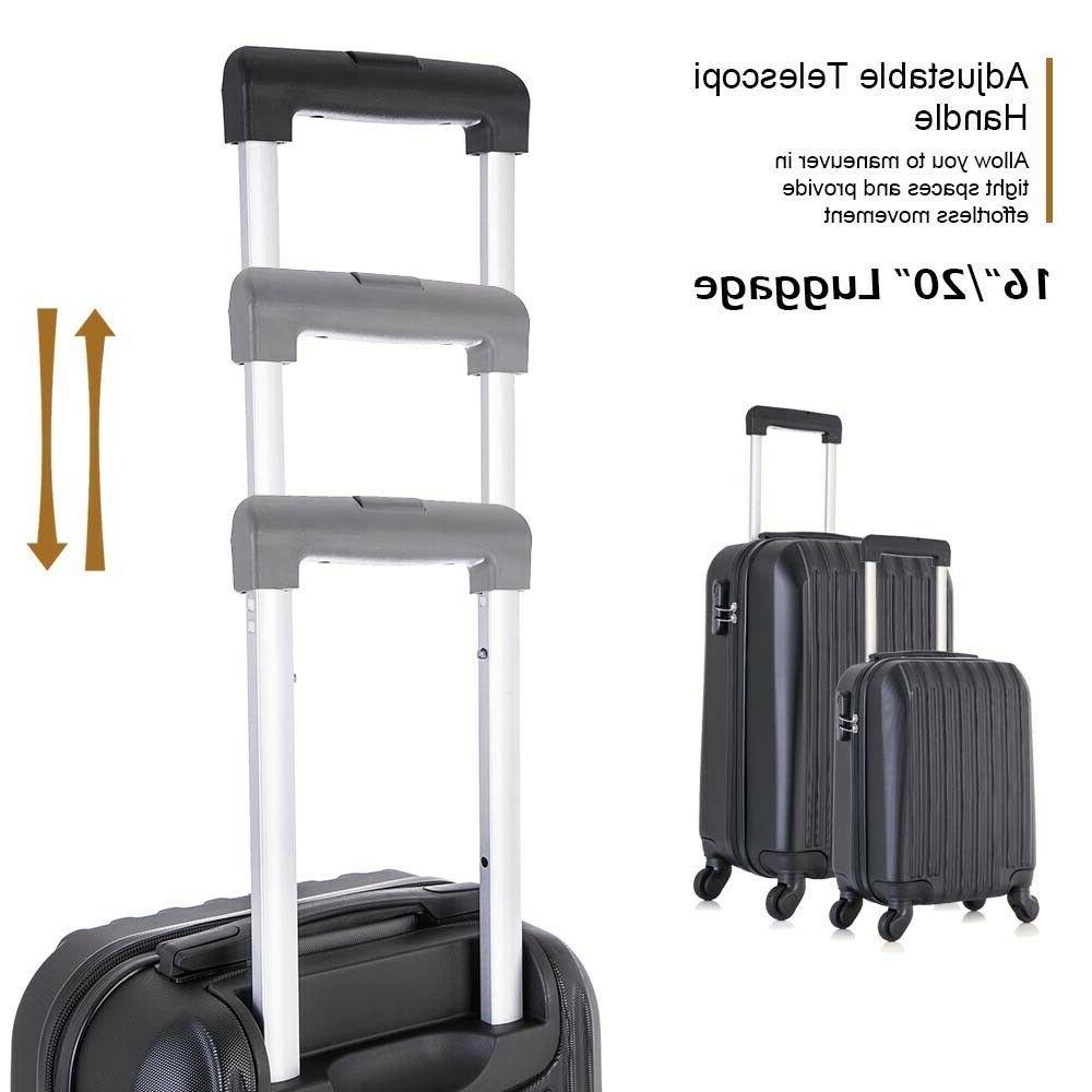 "16"" 20"" 24"" 28"" Luggage Piece ABS Spinner Lightweight Suitcase with Locker"
