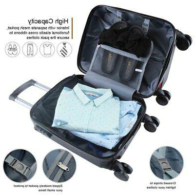 """16"""" Luggage Set Piece ABS Spinner with"""