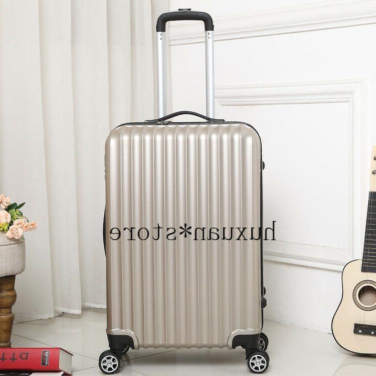 Mirror Travel Suitcase Luggage Wheel Inch