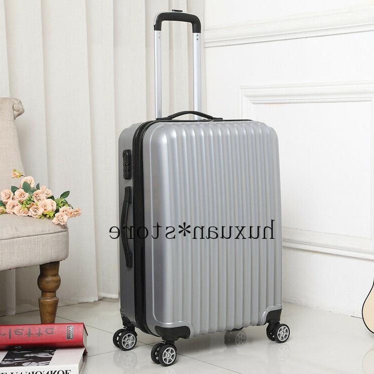 mirror travel suitcase hard luggage trolley case