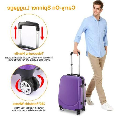 360°Rotatable 20 Hardside Spinner Luggage Hard Shell Travel