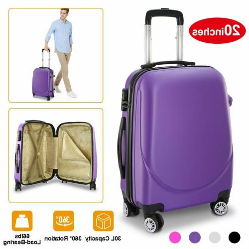 360rotatable wheels 20 inch hardside spinner luggage
