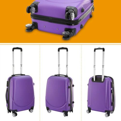 360°Rotatable Wheels Hardside Spinner Luggage Hard Shell Travel Suitcase