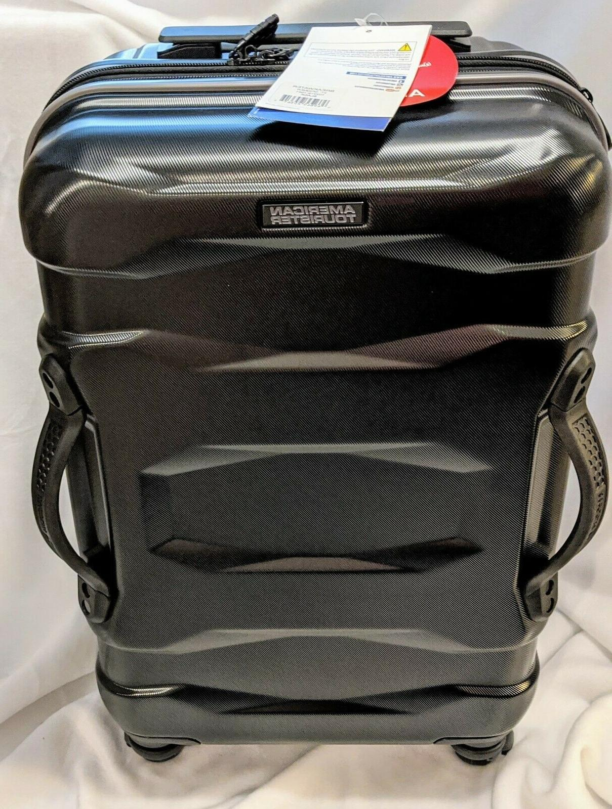 """NEW 22"""" Spinner Suitcase - Black - x 14.6 x Hard"""