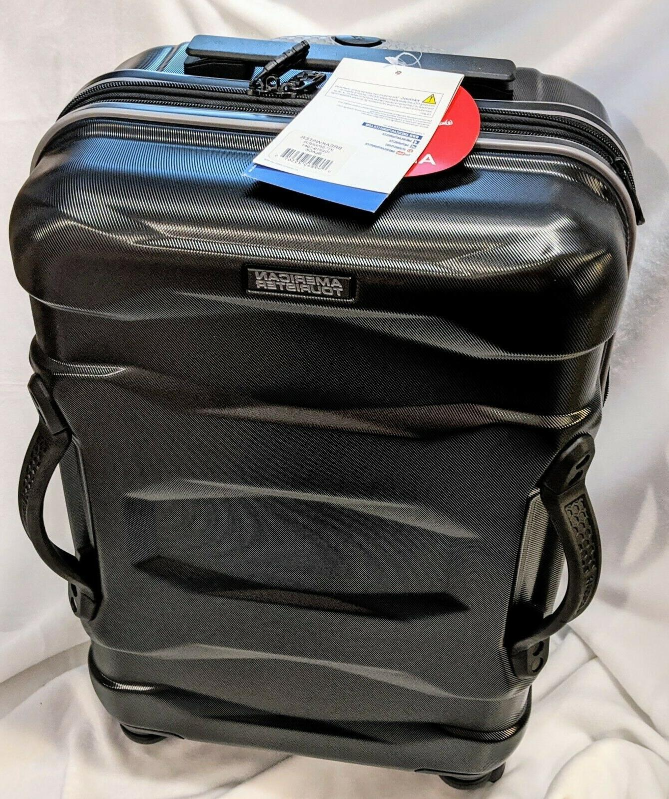new 22 spinner suitcase black 22 x