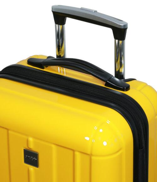 New Dejuno Polycarbonate Hard Shell Suitcases Luggage set-Yellow