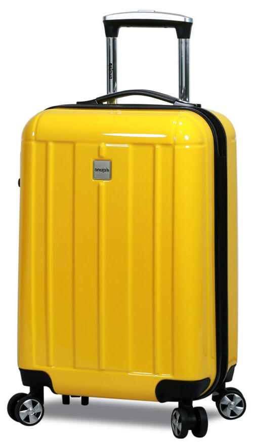 New Dejuno Piece Polycarbonate Shell Spinner Suitcases