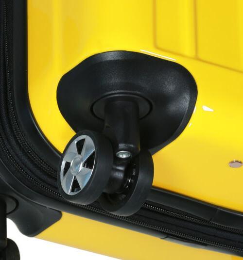 New Dejuno Polycarbonate Hard Suitcases set-Yellow