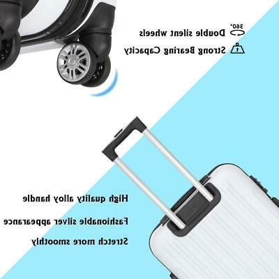 New 3PCS Luggage Travel Set ABS Hard Shell w/TSA lock