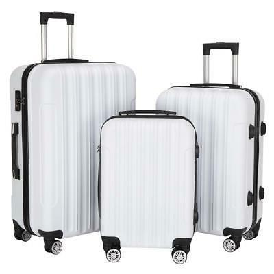 new 3pcs luggage travel set bag abs