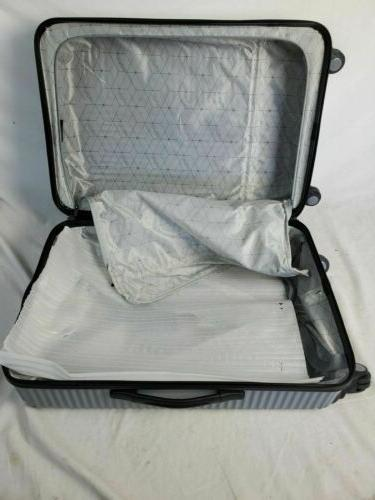 """New 24"""" Silver Luggage Suitcase Spinner Wheels"""