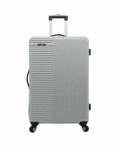 new basette 24 silver luggage suitcase spinner
