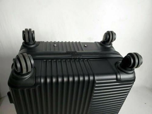 """New Travelers Club Luggage Basette 24"""" Black Luggage Suitcase Medium Check"""
