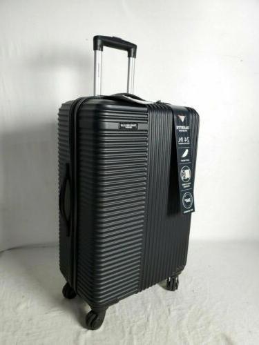 new luggage basette 24 black luggage suitcase