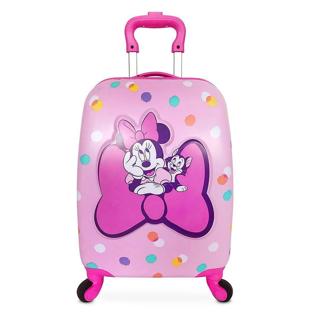 """New Disney Store Mouse Figaro Pink 16"""" Hard Rolling"""